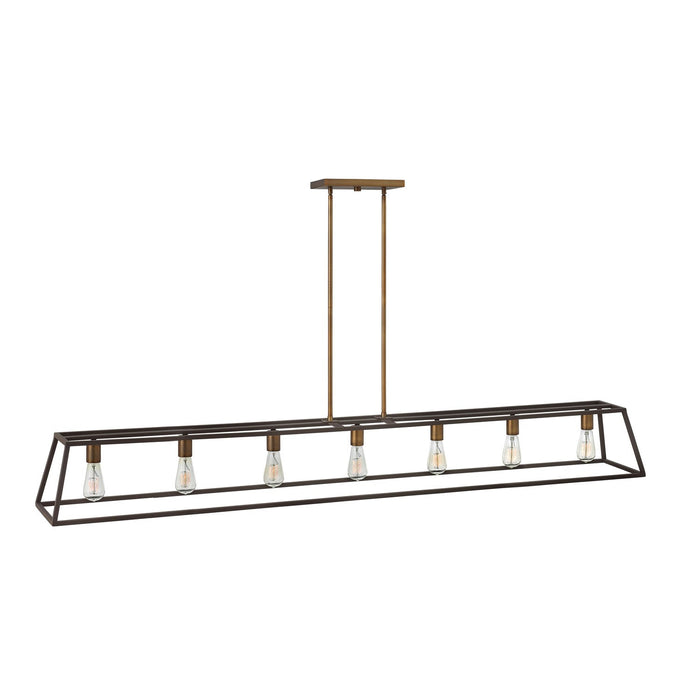 Fulton Linear Suspension - Bronze with Heirloom Brass Accents
