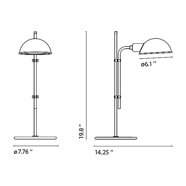 Funiculi S Table Lamp - Diagram