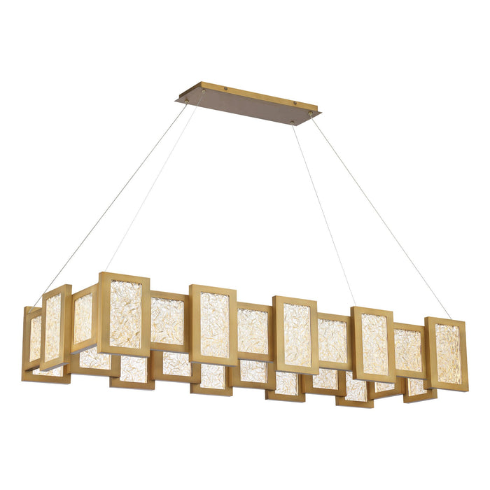 Fury LED Linear Suspension - Aged Brass Finish