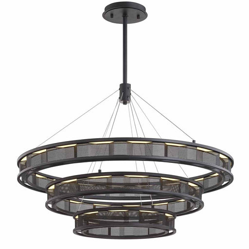 Fuze Large Chandelier - Bronze Finish