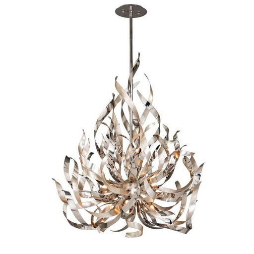 GRAFFITI CHANDELIER - Silver Leaf Polished Stainless Finish