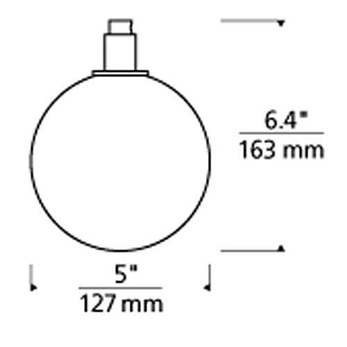 Gambit 19 Light LED Chandelier - Diagram