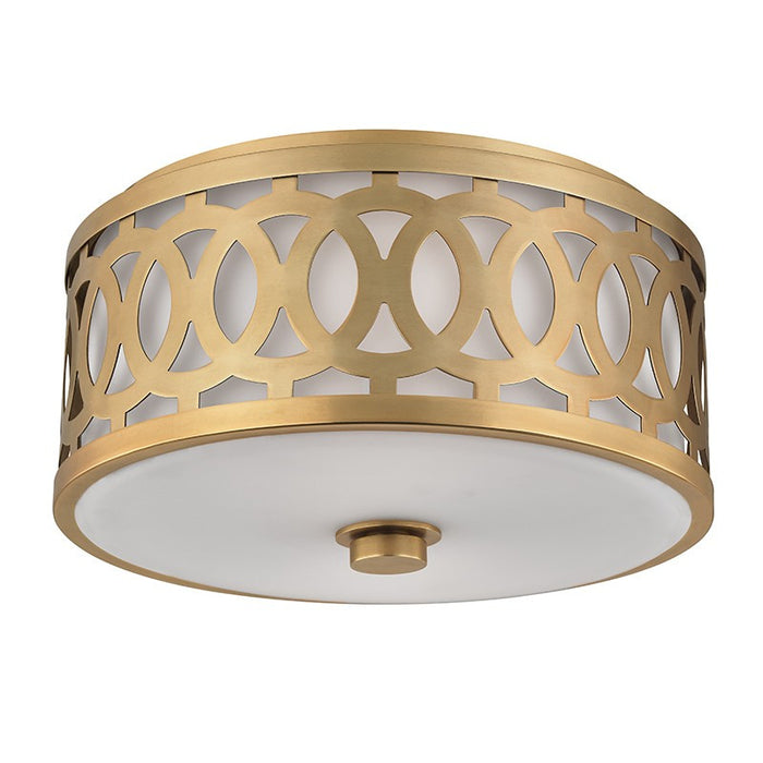 Genesee 2-Light Flush Mount Ceiling Light - Aged Brass