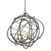 Genesis Chandelier - Black Iron Finish