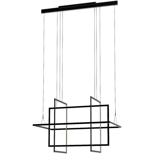 Geometry Large Linear Suspension - Satin Dark Gray Finish