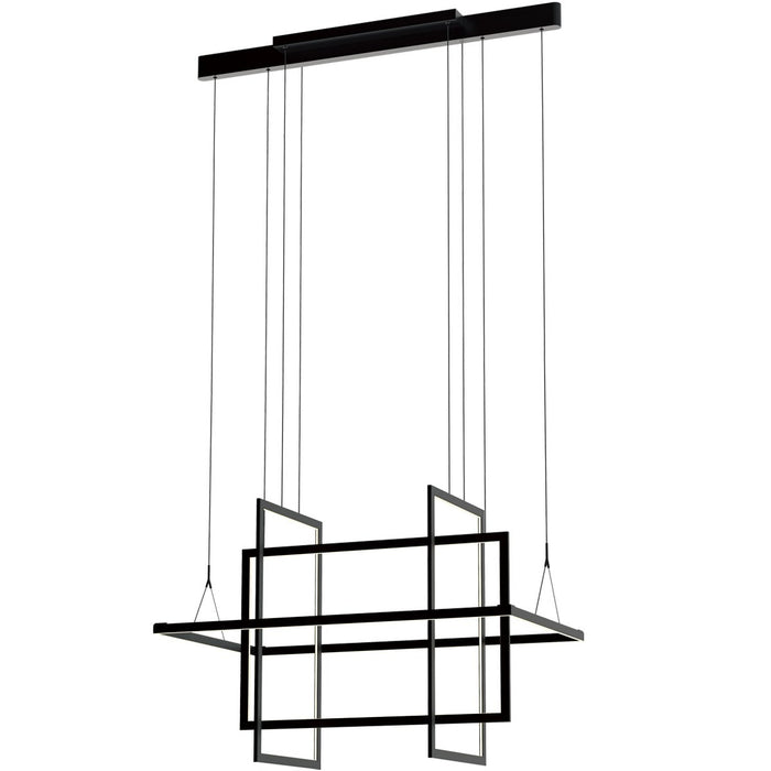 Geometry Medium Linear Suspension - Satin Dark Gray Finish