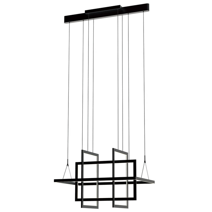 Geometry Small Linear Suspension - Satin Dark Gray Finish