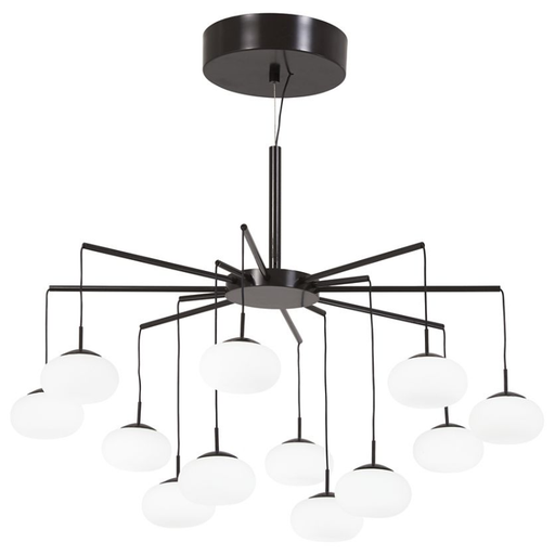 "George's Web 26"" LED Chandelier / Semi-Flush Mount - Bronze Finish"