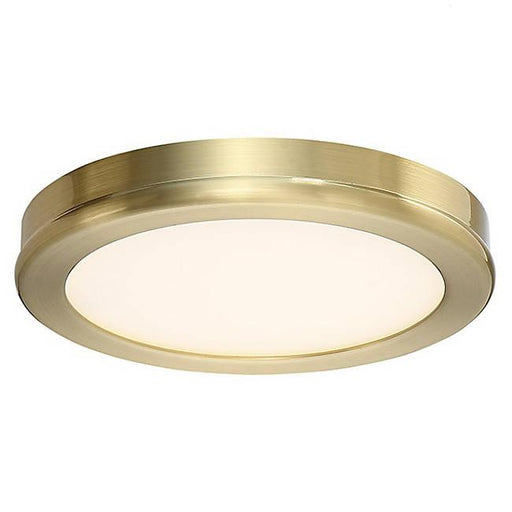 "Geos 6"" LED Flush-Mount Ceiling Light - Brass"