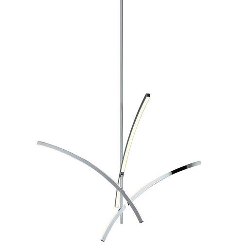 Gestures 3 Arm LED Pendant - Polished Chrome