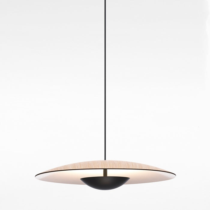 Ginger Medium LED Pendant Light - Oak Finish