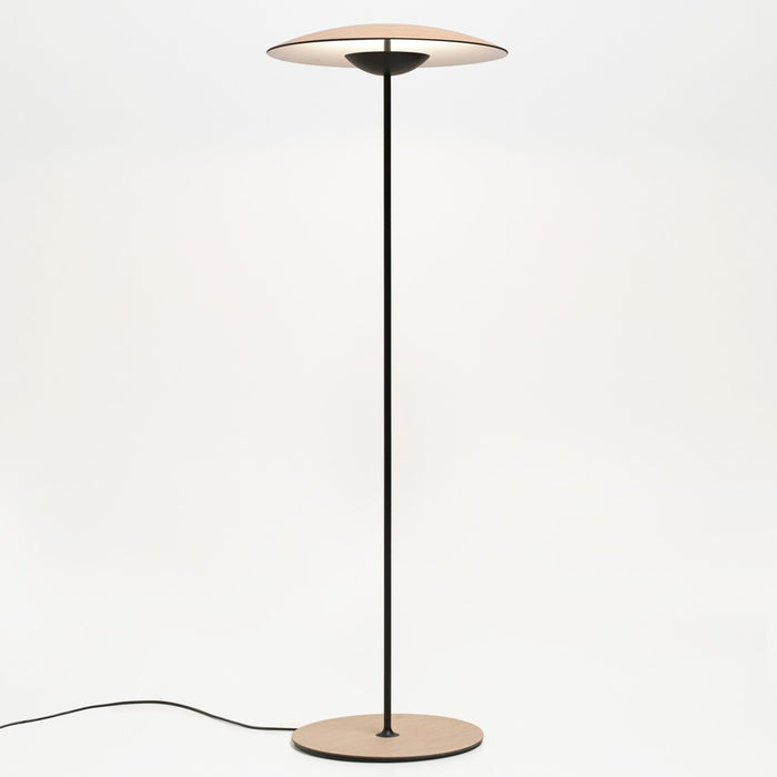Ginger P LED Floor Lamp - Oak Finish