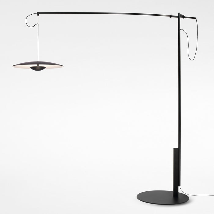 Ginger XL LED Floor Lamp - Wenge Finish