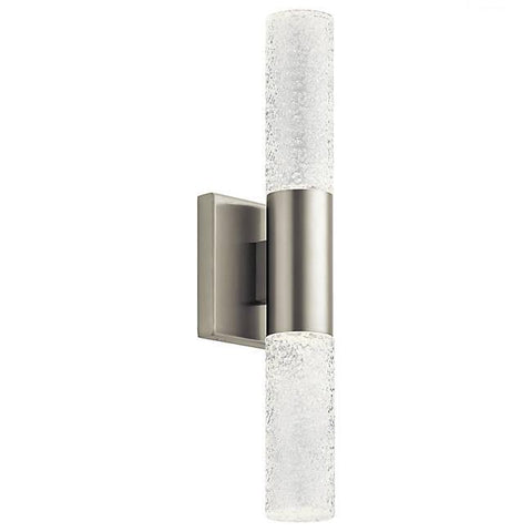 Glacial Glow LED 2-Light Wall Sconce - Vertically Installed