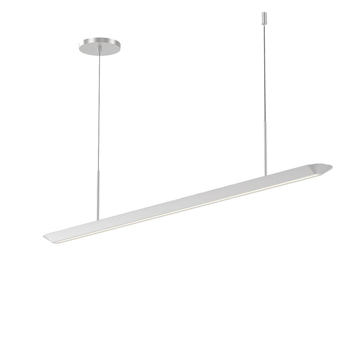 Glide LED Downlight Pendant - Bright Satin Aluminum