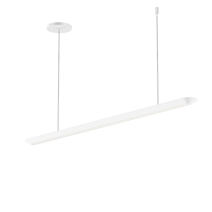 Glide LED Downlight Pendant - Satin White