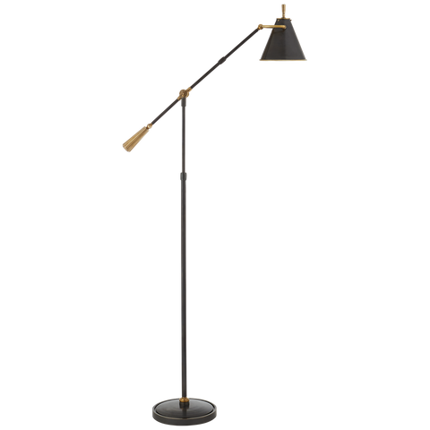 Goodman Floor Lamp - Bronze & Brass