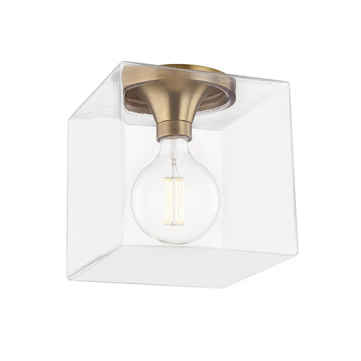Grace Large Square Flush Mount - Aged Brass