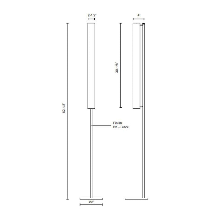 Gramercy Single Floor Lamp - Diagram