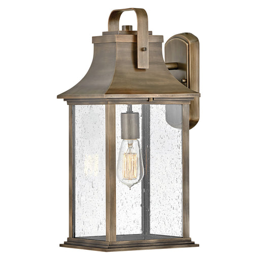 Grant Large Outdoor Wall Sconce - Brushed Brass Finish