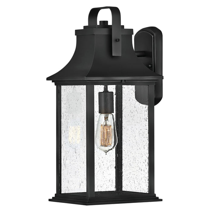 Grant Large Outdoor Wall Sconce - Textured Black Finish