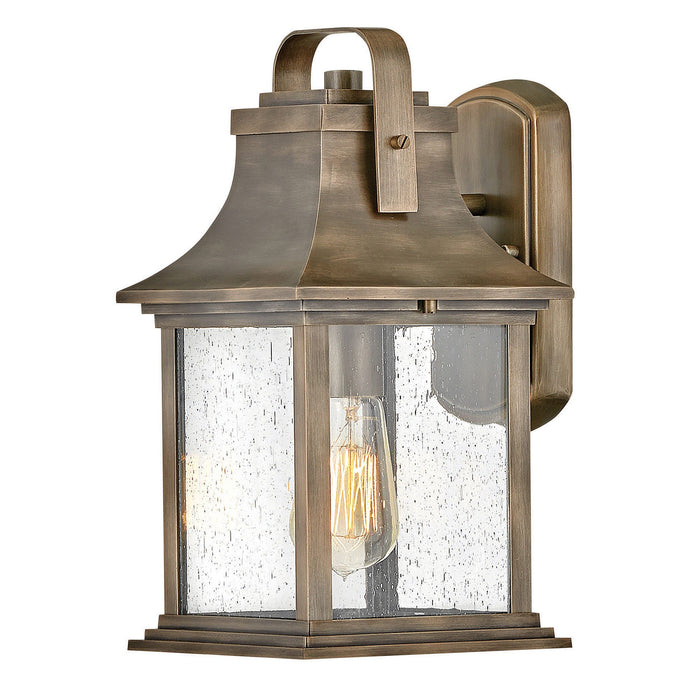 Grant Small Outdoor Wall Sconce - Brushed Brass Finish