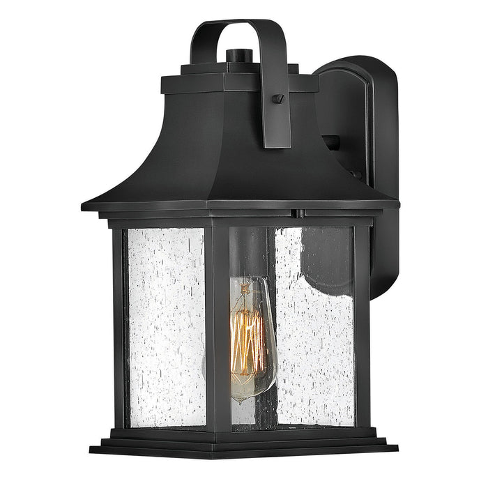 Grant Small Outdoor Wall Sconce - Textured Black Finish