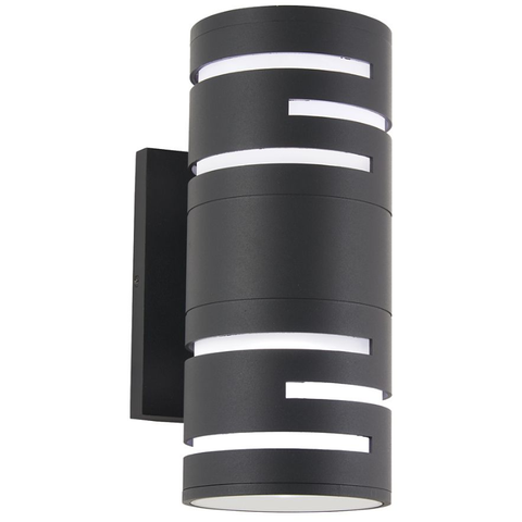 Groovin Small Outdoor LED Wall Light - Black Finish