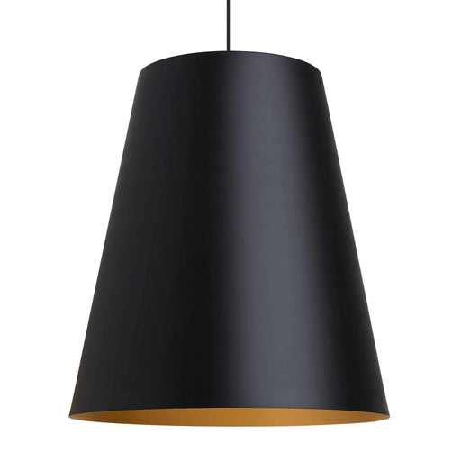 Gunnar Pendant  - Black/Satin Gold Finish