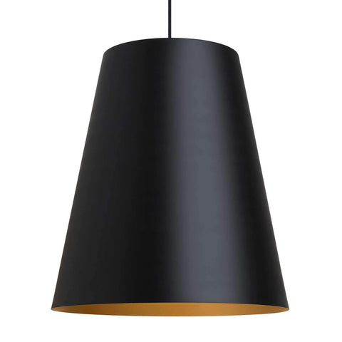 Gunnar Pendant Light Black Satin Gold