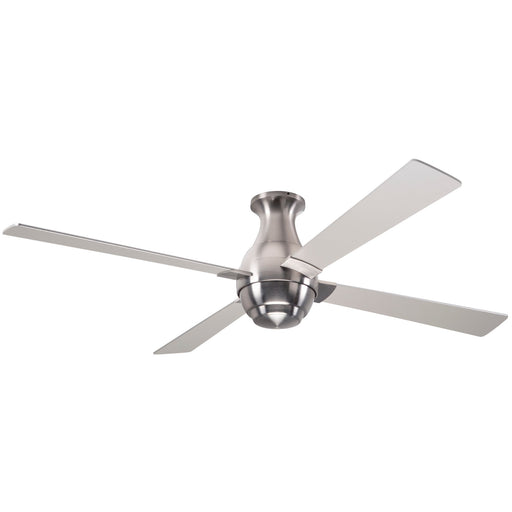 Gusto Flush Ceiling Fan - Nickel (No Light)