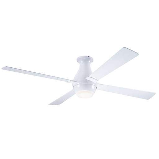 Gusto Flush Ceiling Fan - White (LED Light)