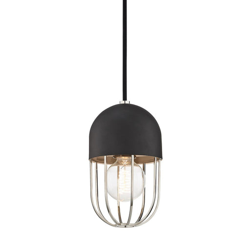 HALEY PENDANT - Polished Nickel/Black