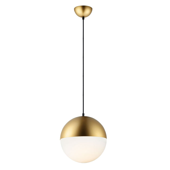 Half Moon Large Pendant - Metallic Gold