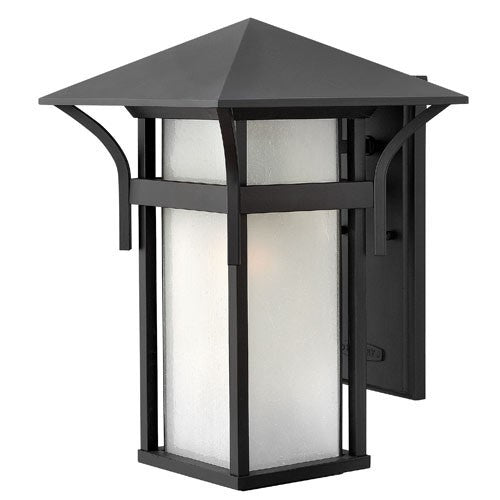 Harbor Large Outdoor Wall Light - Satin Black