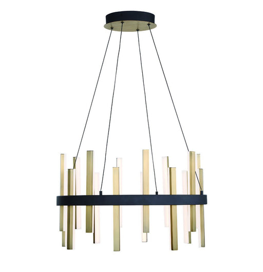 Harmonix Chandelier - Black/Aged Brass Finish