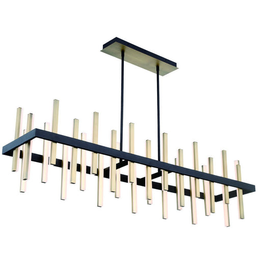 Harmonix Linear Chandelier - Black/Aged Brass Finish