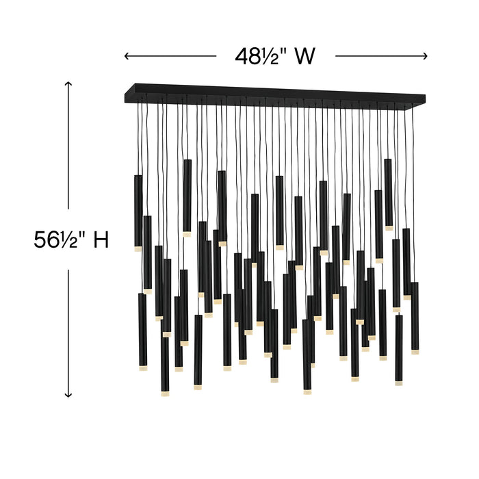 Harmony LED Linear Suspension - Diagram