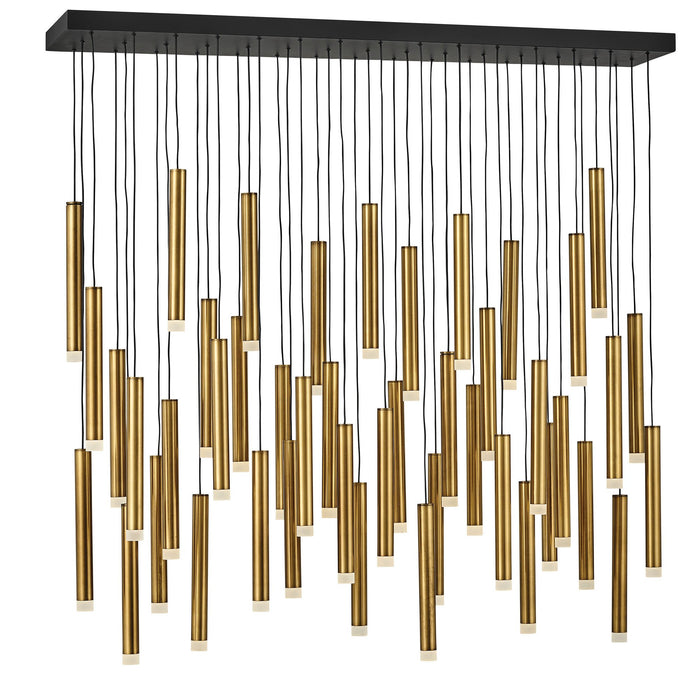 Harmony LED Linear Suspension - Heritage Brass Finish
