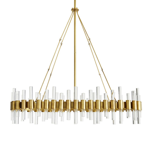 Haskell Oval Chandelier - Antique Brass