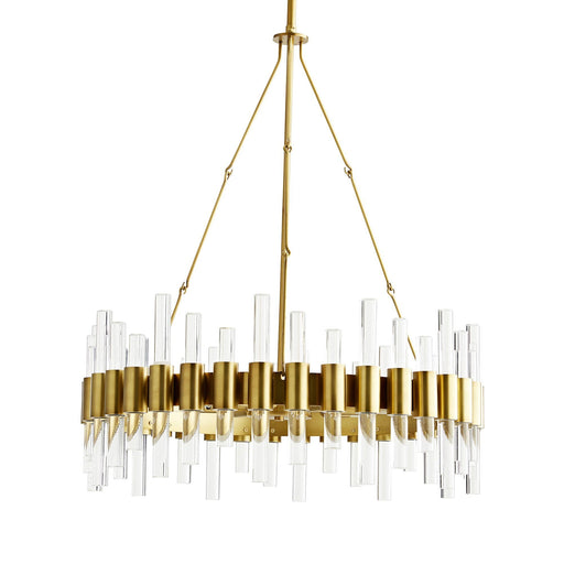 Haskell Small Chandelier - Antique Brass