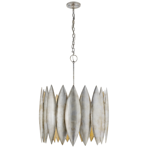 Hatton Large Pendant Brushed Silver Leaf