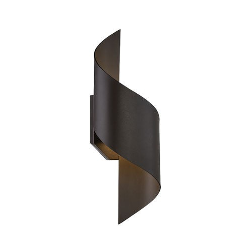 Helix LED Outdoor Wall Light - Bronze Finish