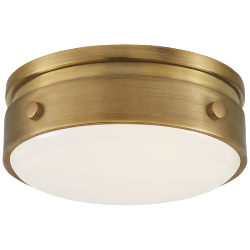 Hicks Petite Flush Mount - Hand Rubbed Antique Brass