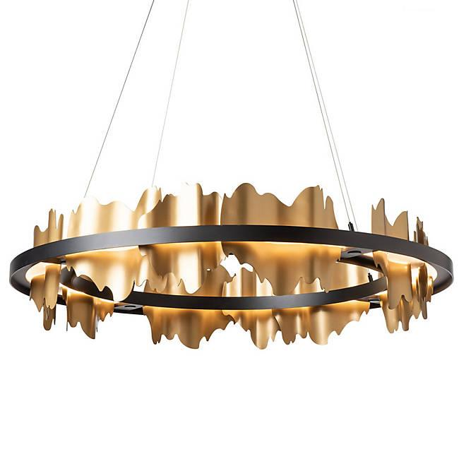 Hildene LED Chandelier - Gold Accent Black Finish