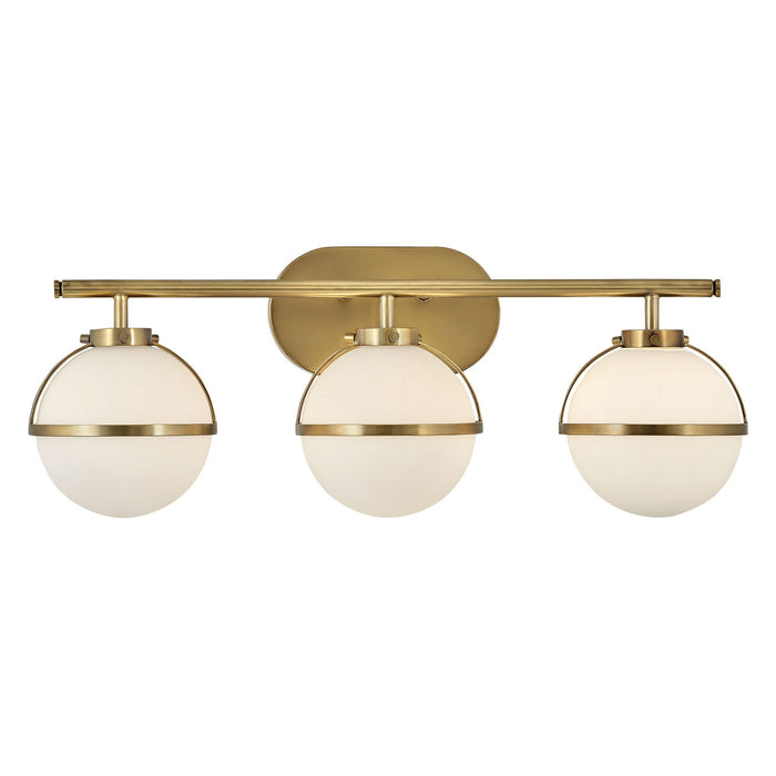 Hollis 3-Light Bath Bar - Heritage Brass Finish