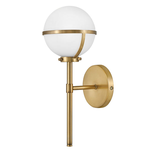 Hollis Wall Sconce - Heritage Brass Finish