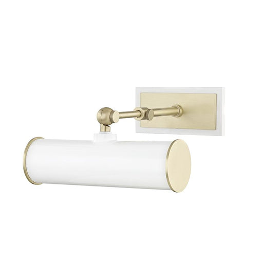 Holly Small Picture Light - White/Aged Brass Finish