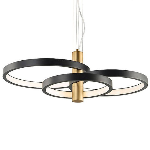 Hoopla 3-Light LED Pendant - Black & Gold