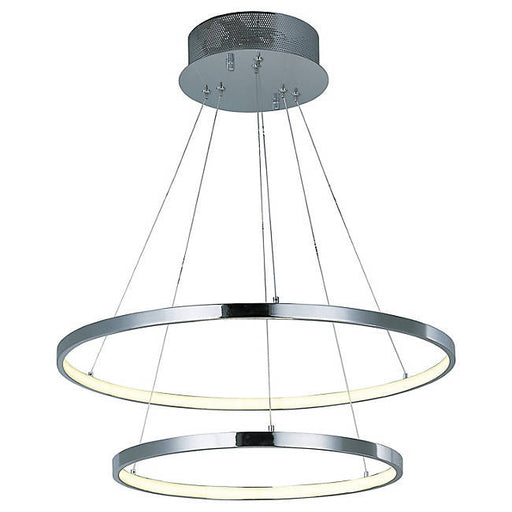 Hoops LED 2-Tier Pendant - Polished Chrome
